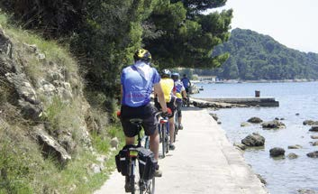 Bike ride on the island of Rab