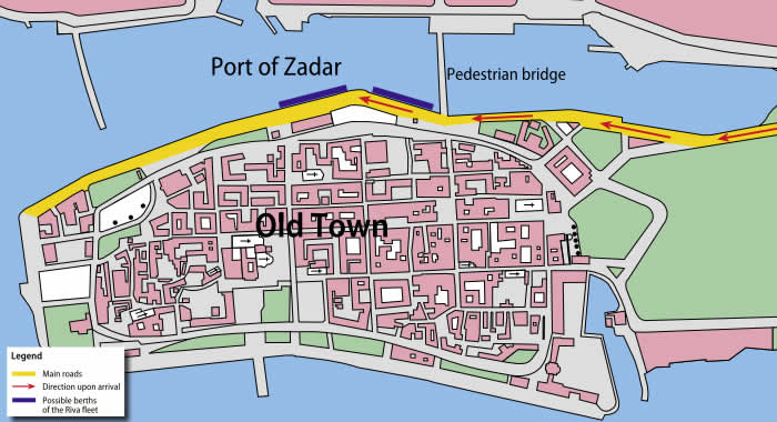 Map of Zadar port